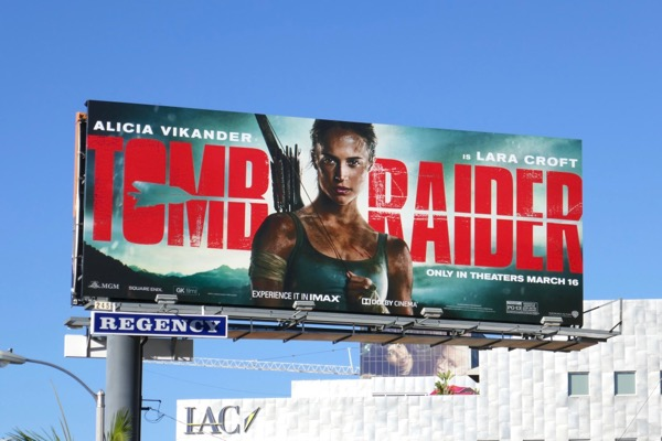 Tomb Raider movie remake billboard