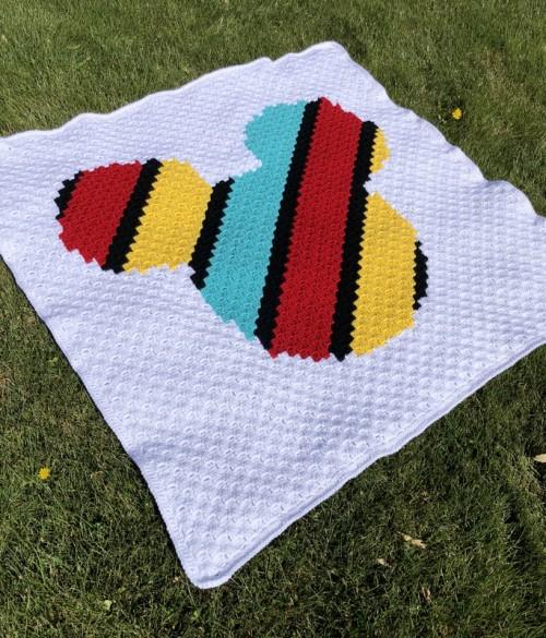 Mickey C2C Crochet Blanket - Free Pattern
