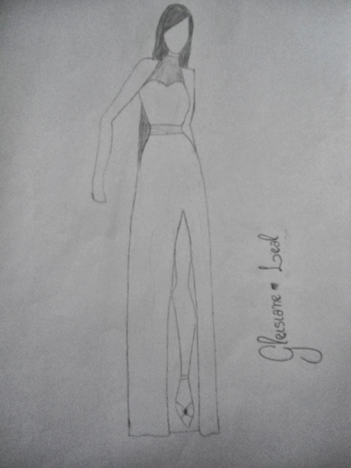 Fashion girls: vestidos desenhados
