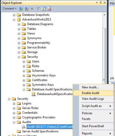 configure audit collecttion