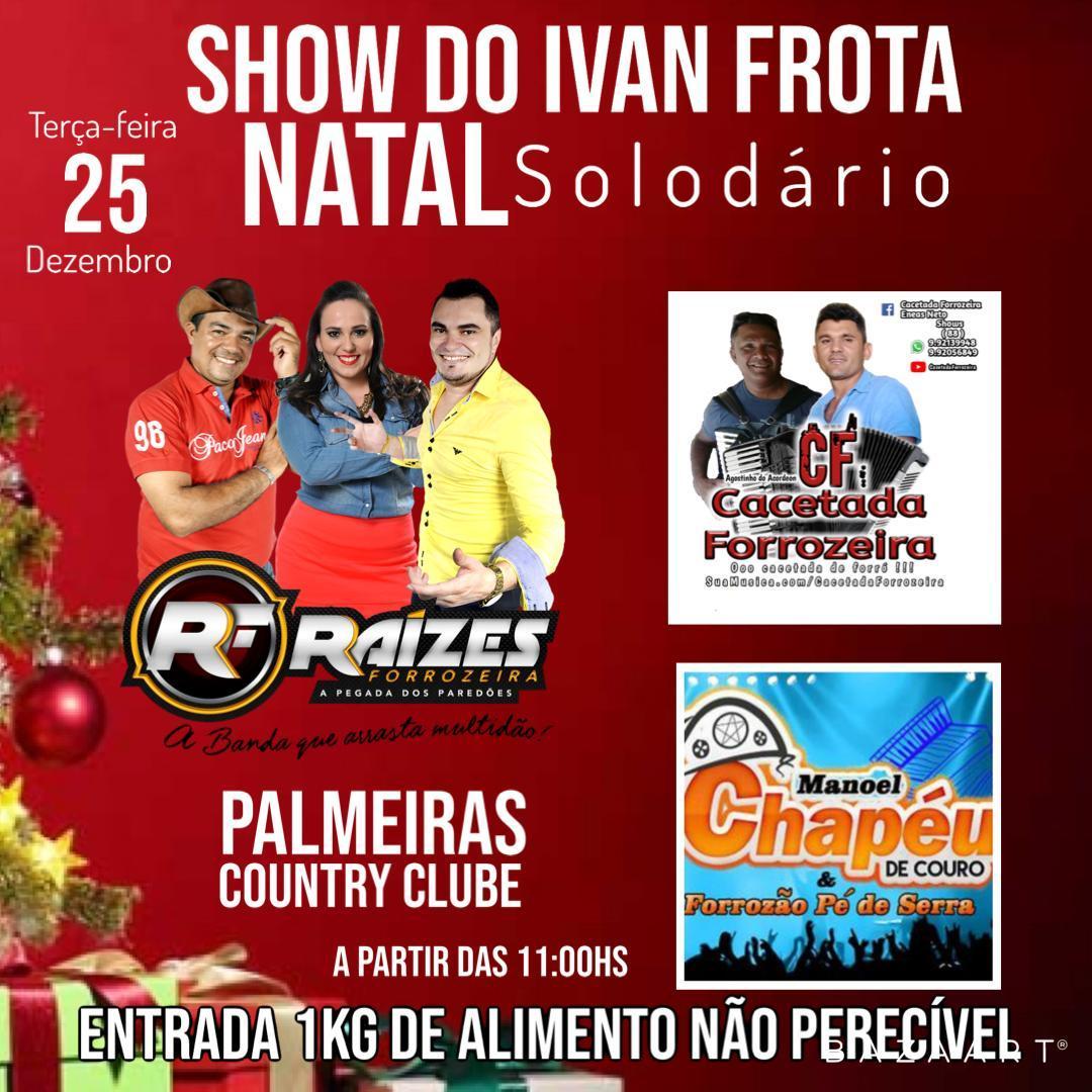 Ivan Frota e Palmeiras Country Club promovem Natal Solidário no dia 25 de  dezembro 1bc516e5942d8