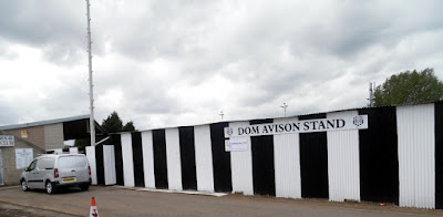 The Dom Avison stand at Brigg Town Football Club's Hawthorns Ground in 2019