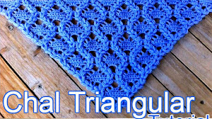 Chal triangular con hermoso diseño / Tutorial Crochet