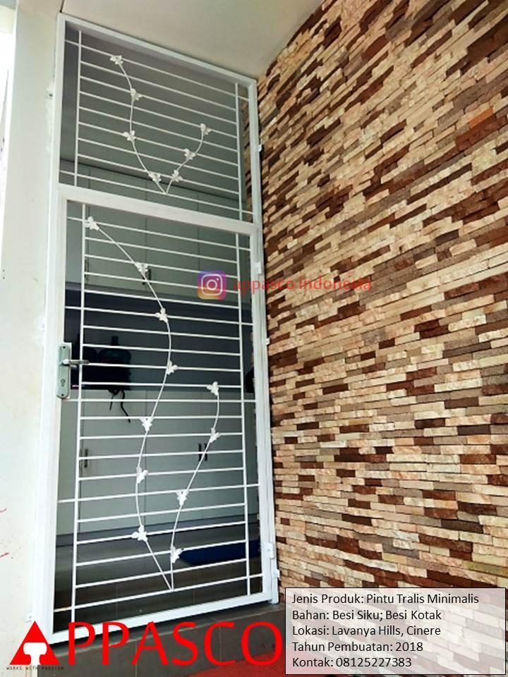 Pintu Besi Teralis Minimalis Modern Anti Maling di Lavanya Hills Cinere