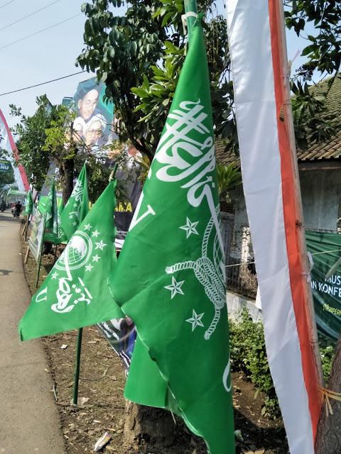 22 Ribu Bendera NU Hijaukan Kota Banjar
