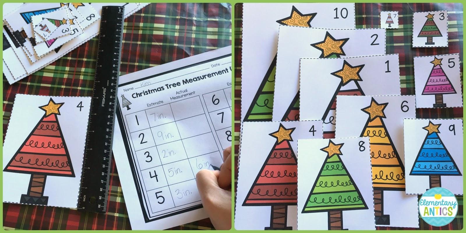 Tree Measuring Lengths Worksheet