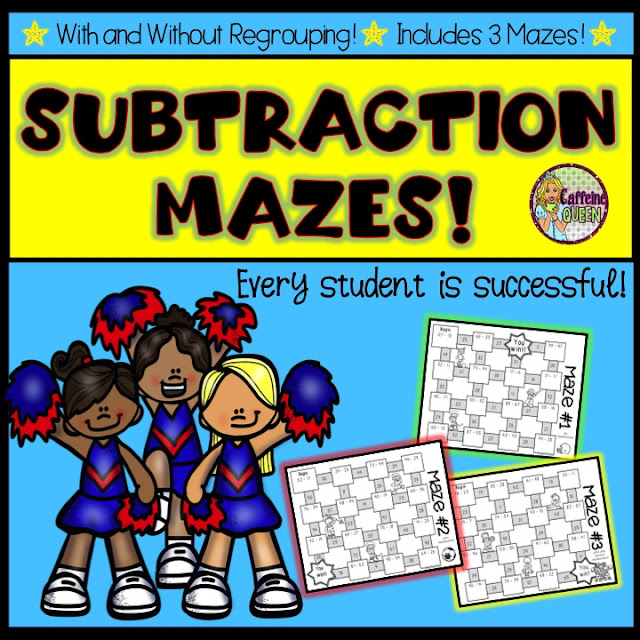 Subtraction Mazes with and without regrouping
