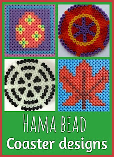Hama bead coaster designs