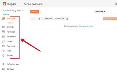 Cara Memposting Artikel di Blog dan Mengenal Menu Dasboard Blogger
