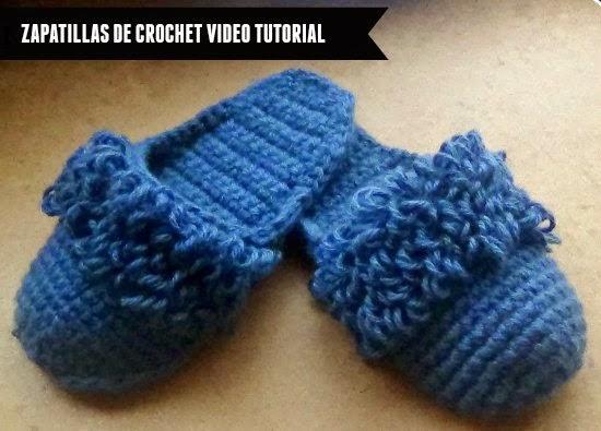 zapatillas,crochet