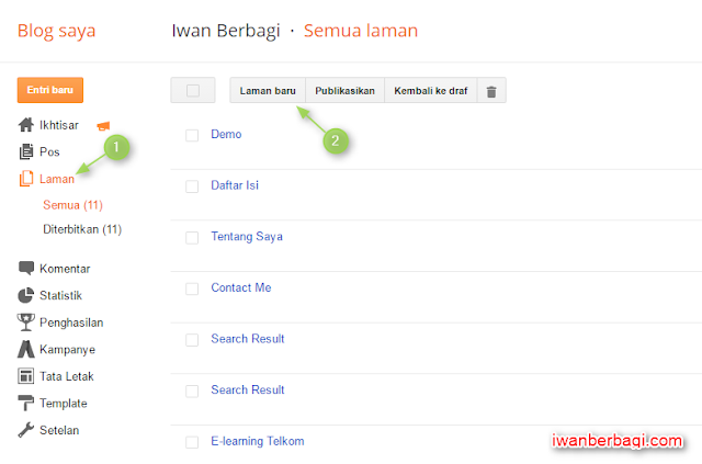 Membuat Halaman Demo Template dan Download di Blogger