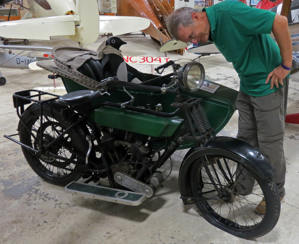 1916 Royal Enfield sidecar combination.