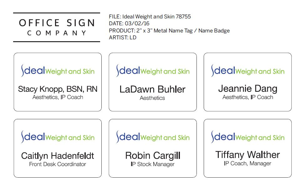 Digital Proof PDF from Office Sign Company