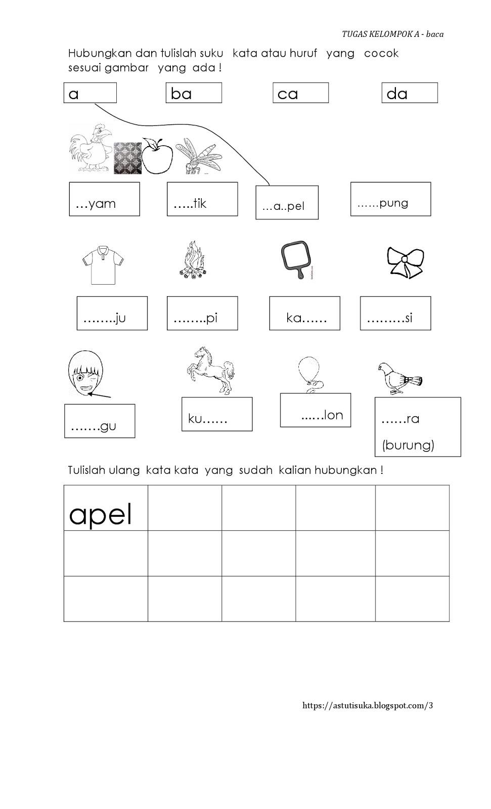 Worksheets Worksheet-belajar-membaca jadilah the best parents belajar membaca membaca