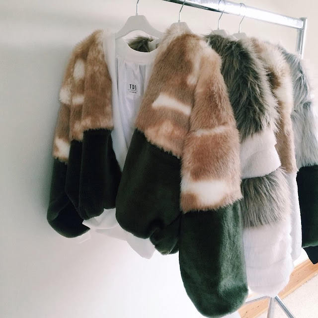 fashion faux fur bomber jackets