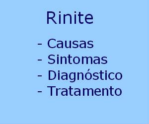 Rinite causas sintomas diagnóstico tratamento viral aguda alérgica