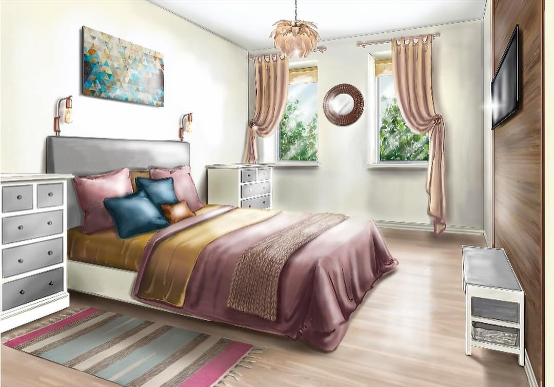 01-Master-Bedroom-Julia-Timireeva-Юлия-Тимиреева-Interior-Design-Drawings-that-Help-Visualise-www-designstack-co