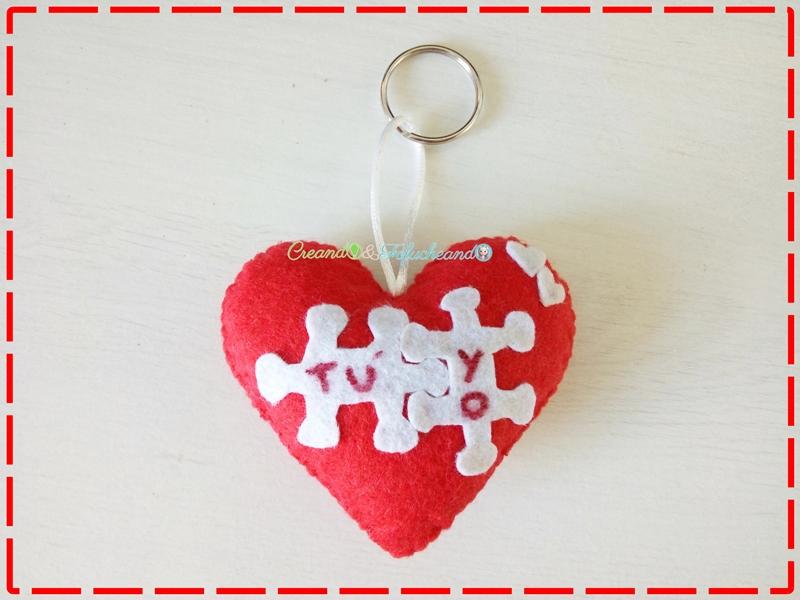 Detalle Para Handbox Valentín Corazón Fieltro De Llavero En San PuZXiOkT