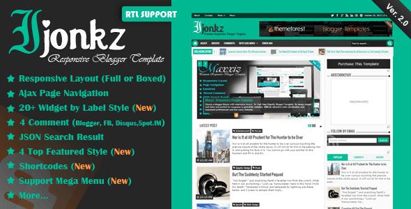 تحميل قالب Download Ijonkz v2.0 الإخباري المدفوع مجانا