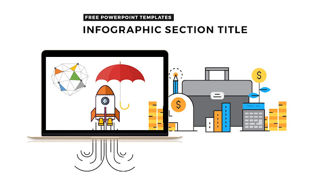 Free Infographic PowerPoint Templates with Various Section Titles