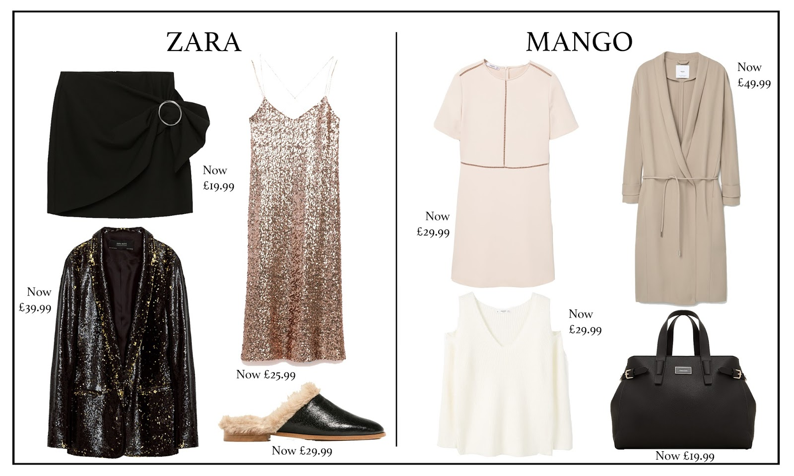 zara, mango, topshop, river island, french connection, warehouse, fashion, fashion blog, sales, new years