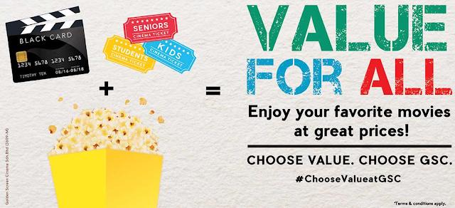 GSC Cinemas Movie Ticket Discount Promotion