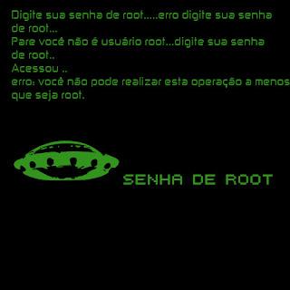Digite sua senha de Root