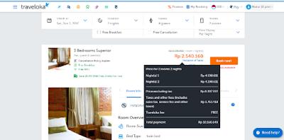 total pembayaran traveloka villa di jambuluwuk puncak resort and convention hall