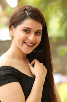 Mannara Chopra in Short Off Shoulder Black Dress ~  Exclusive 031.JPG