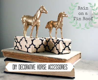 DIY Decorative Horse Accessories {rainonatinroof.com} #DIY #horse #accessories #gold