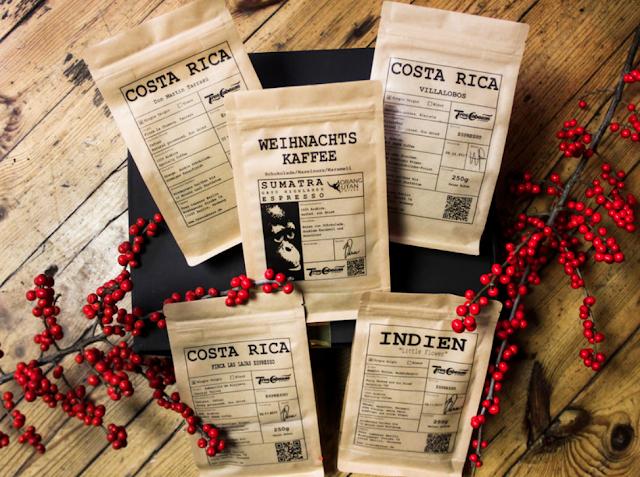 Weihnachtskaffee Geschenkbox mit 5 Kaffees