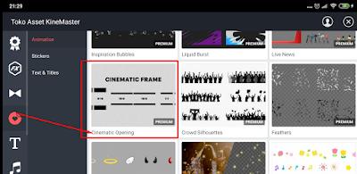 Cara Membuat Cinematic Bar Pada Video di Kinemaster Android