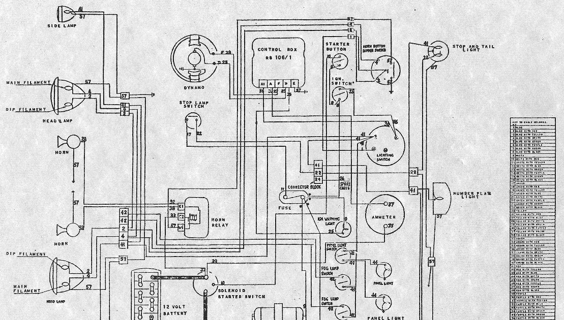 1955 aston martin db3s wiring diagram
