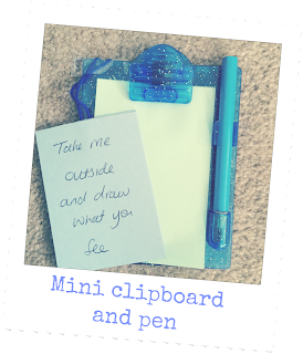 mini clipboard and pen