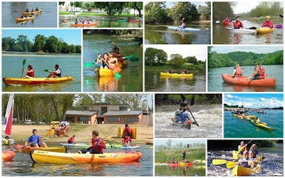 montage of canoeing in the Loire Valley