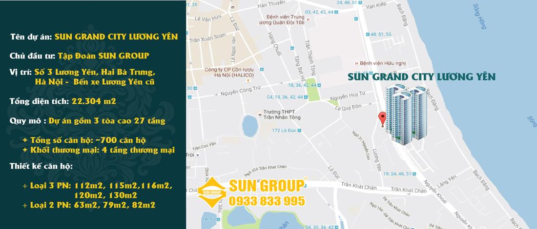 Vị trí chung cư Sun Grand City