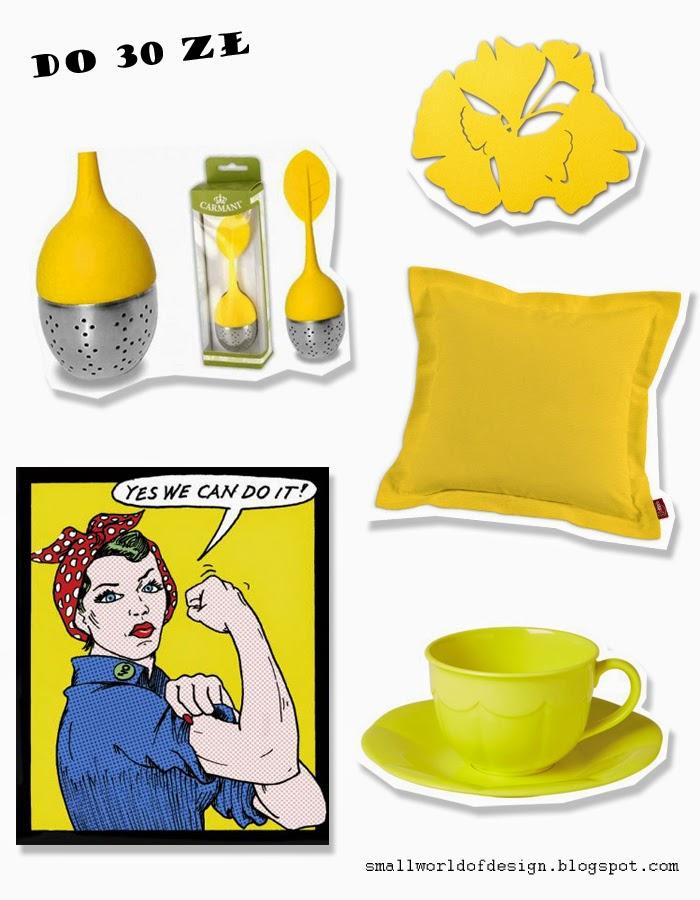 Small World Of Design Kolor I Deseń żółte Dodatki Do