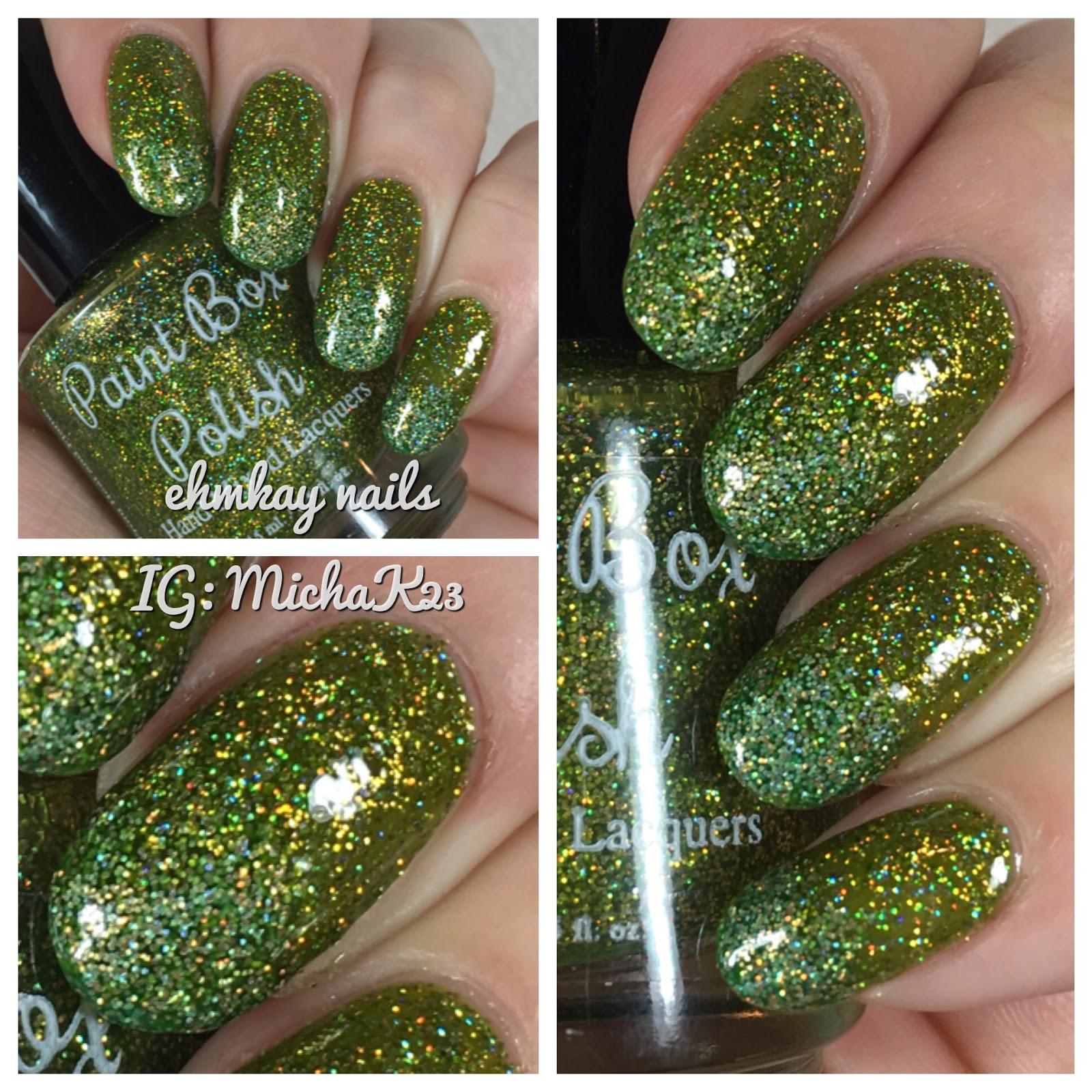 ehmkay nails: St Patrick\'s Day Nail Art: Paint Box Polish A Dragon ...