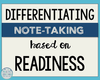 Differentiating note-taking in the middle school math classroom