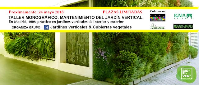 curso taller mantenimiento de Jardines verticales