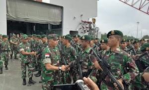 600 Prajurit TNI Tiba di Timika
