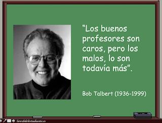 Sino podemos fabricar un buen profesor si que podemos echar a los malos.