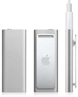 El pequeño apple shuffle aparece en el 2009.