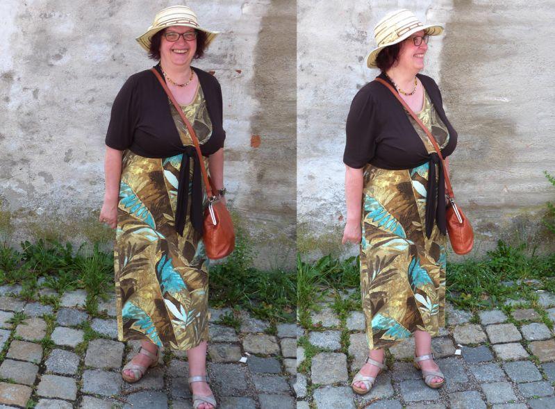 Ursula im langen Sommerkleid mit Bolero