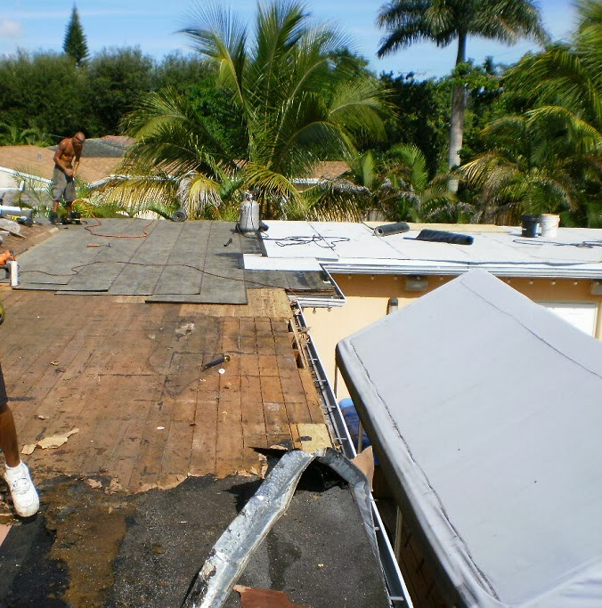 Flat Roofing Project In Miami Springs, FL.