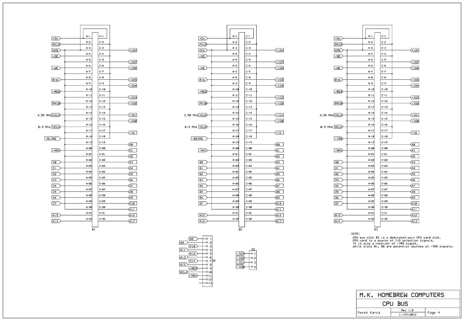 Homebrew Computers: MKHBC-8-R1 homebrew 6502 computer