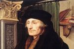 Retrato del humanista holandés Erasmo de Rotterdam