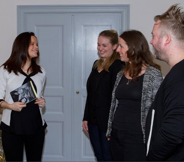Princess Sofia of Sweden held a meeting with Marten Schultz, law professor of Stockholm University and Angla Eklund, Law Institute CEO at the Royal Palace.