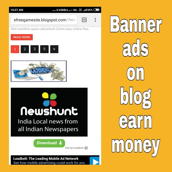 how to put banner ads on blogger make money from blog without adsense