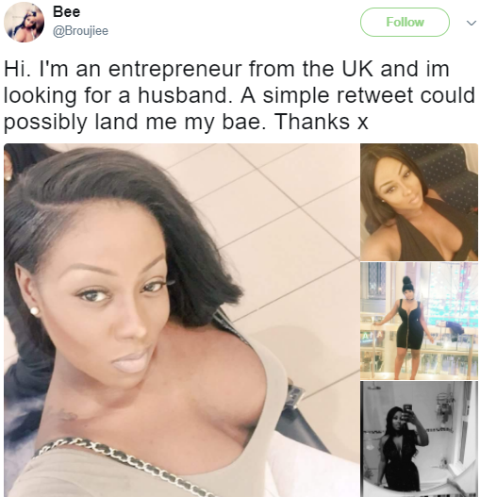 unnamed - Stunning lady announces on Twitter that she is looking for a husband